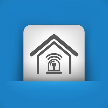 Vektor illustration av enstaka blå och grå isolerad ikon. Illustration