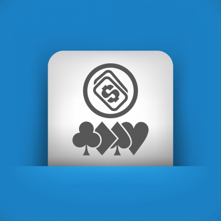 hold'em: Vector illustration of single blue and gray isolated icon.