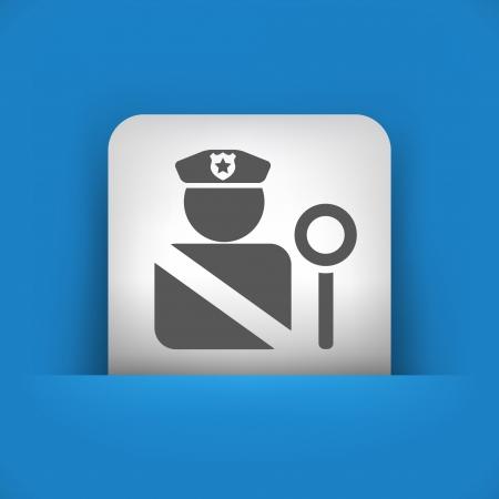 blocco stradale: Illustrazione vettoriale di singolo blu e grigio icona isolato.
