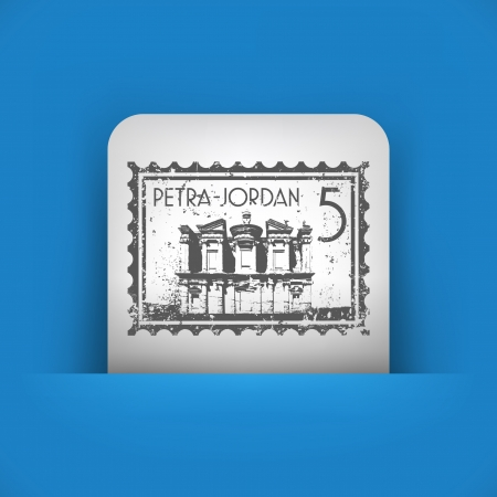 petra: Vector illustration of single blue and gray isolated icon.