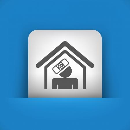 accident woman: Ilustraci�n vectorial de icono �nico aislado azul y gris.