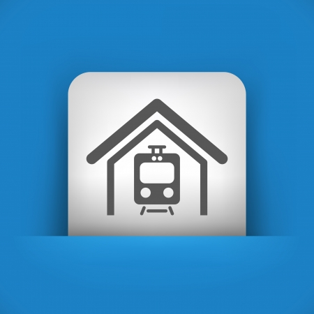Vector illustratie van een blauw en grijs, icon,. Stock Illustratie