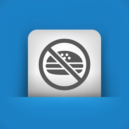 exclude: Vector illustration of single blue and gray isolated icon.