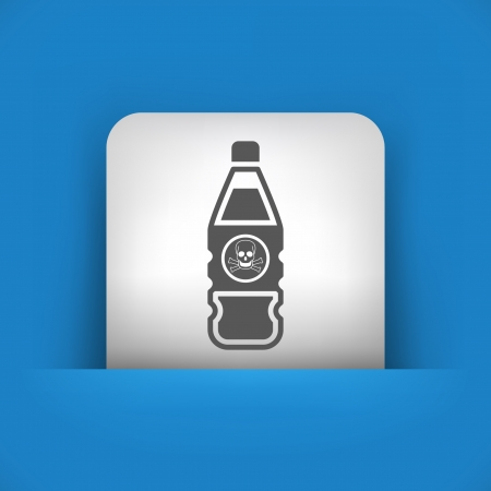 Vector illustration of single blue and gray isolated icon. Stock Vector - 17785444