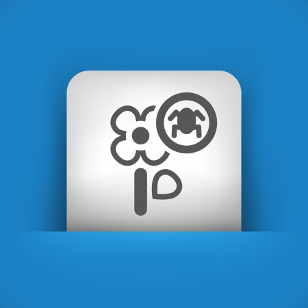 killing: Vector illustration of single blue and gray isolated icon.