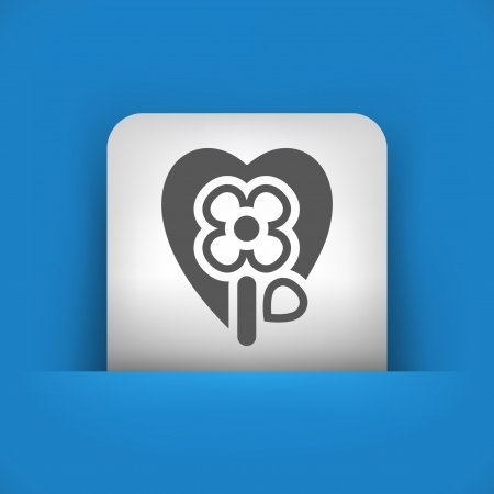 passion ecology: Vector illustration of single blue and gray isolated icon.