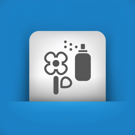 herbicide: Vector illustration of single blue and gray isolated icon.