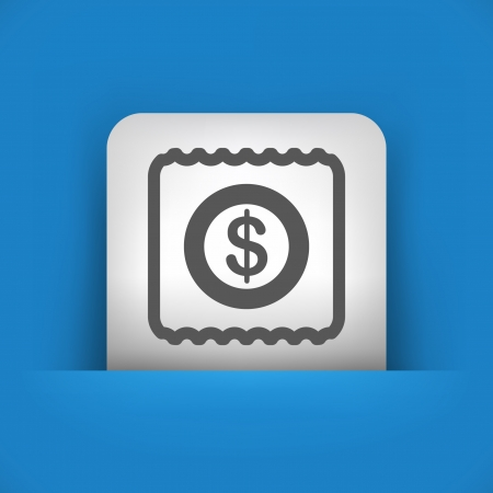 Vector illustration of single blue and gray isolated icon.
