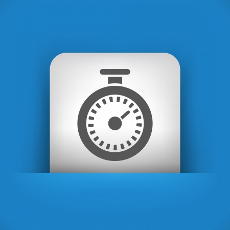 timing: Vector illustration of single blue and gray isolated icon.
