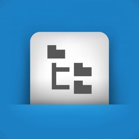 Vector illustration de l'icône bleu et gris isolé.