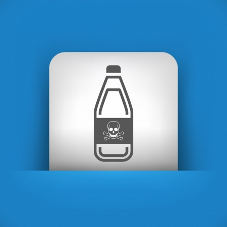 demise: Vector illustration of single blue and gray isolated icon.