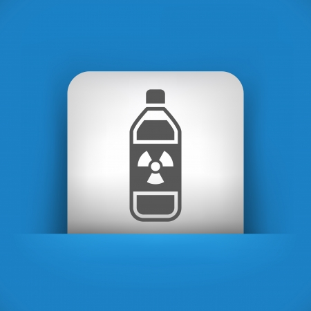 combustible: Vector illustration of single blue and gray isolated icon.