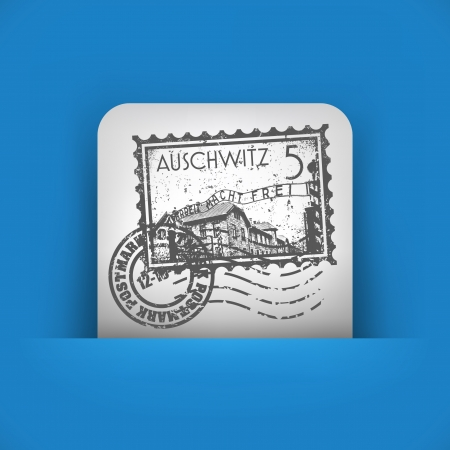 holocaust: Vector illustration of single blue and gray isolated icon.