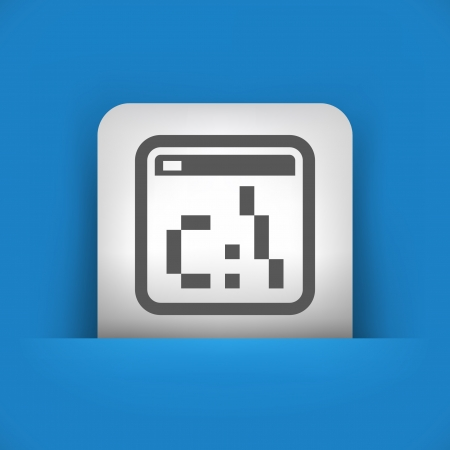dos: Vector illustration of single blue and gray isolated icon.