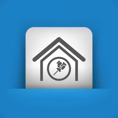 bricolage: Vector illustration of single blue and gray isolated icon.