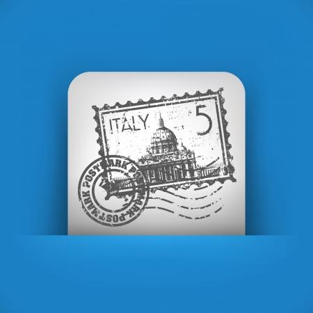 roman catholic: Vector illustration of single blue and gray isolated icon.