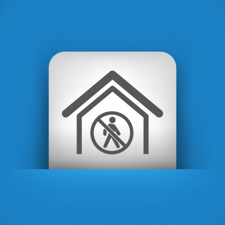 excluding: Vector illustration of single blue and gray isolated icon.