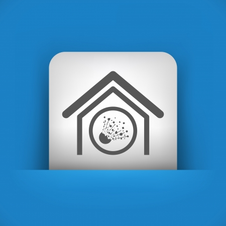 risky: Vector illustration of single blue and gray isolated icon.