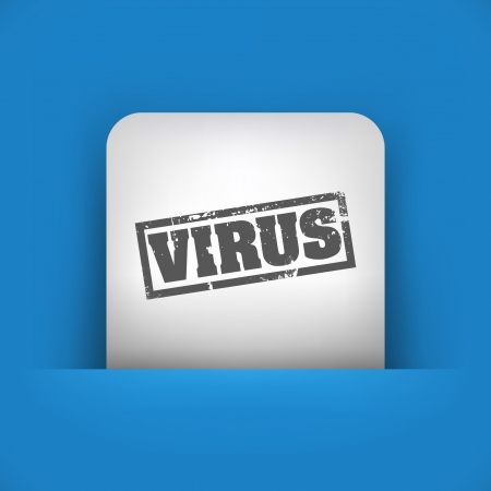 virus alert: Vector illustration of single blue and gray isolated icon.