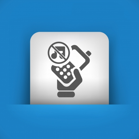 cellulare: Vector illustration of single blue and gray isolated icon.