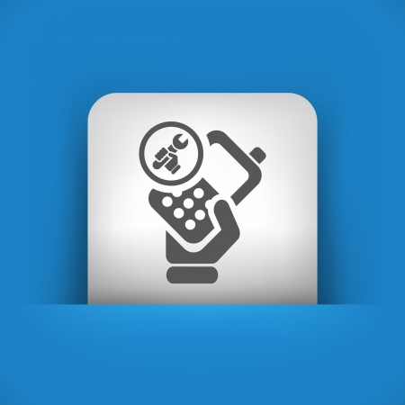 reparations: Vector illustration of single blue and gray isolated icon.