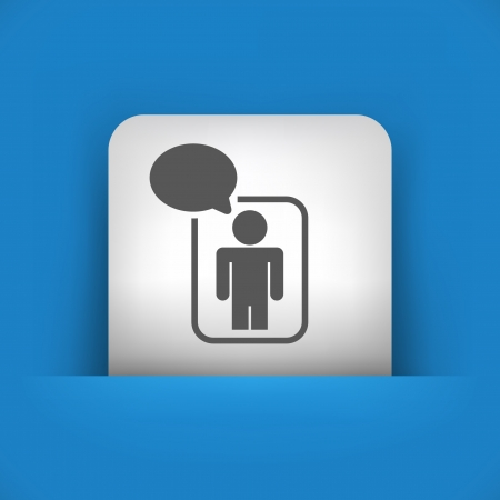socialnetwork: Vector illustration of single blue and gray isolated icon.