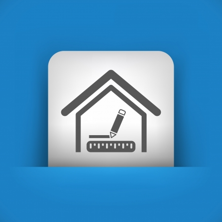 measures: Vector illustration of single blue and gray isolated icon.