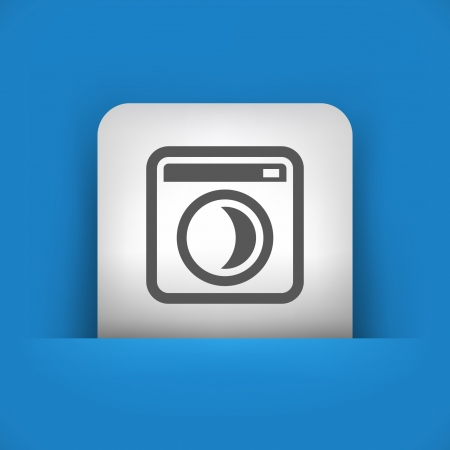 standby: Vector illustration of single blue and gray isolated icon.