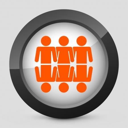 Vector illustration of single isolated elegant orange glossy icon. Stock Vector - 17782022