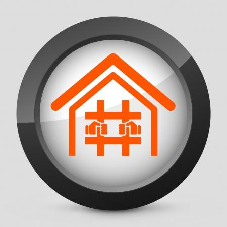 convicted: Vector illustration of single isolated elegant orange glossy icon. Illustration
