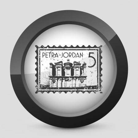 petra: Vector illustration of single isolated elegant orange glossy icon. Illustration