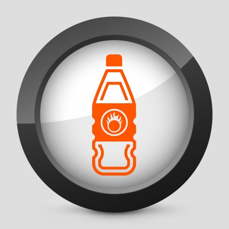 Vector illustration of single isolated elegant orange glossy icon. Stock Vector - 17790076