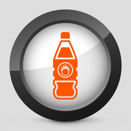 Vector illustration of single isolated elegant orange glossy icon. Stock Vector - 17790488