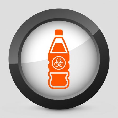 Vector illustration of single isolated elegant orange glossy icon. Stock Vector - 17790364