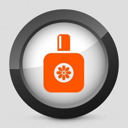 toilette: Vector illustration of single isolated elegant orange glossy icon. Illustration