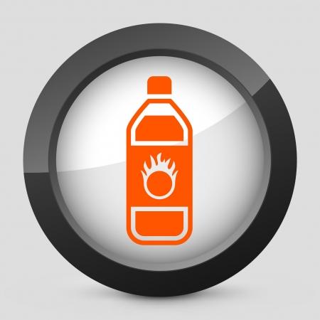 Vector illustration of single isolated elegant orange glossy icon. Stock Vector - 17790710