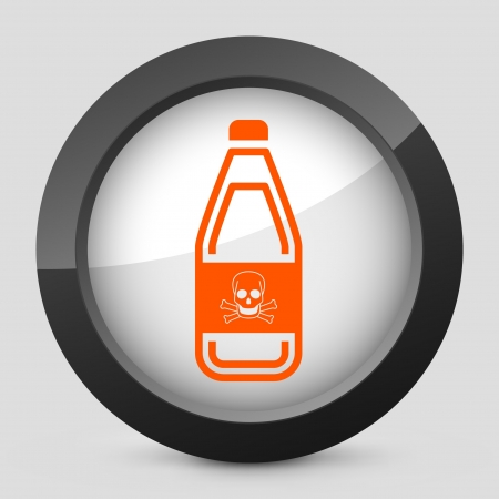 demise: Vector illustration of single isolated elegant orange glossy icon. Illustration