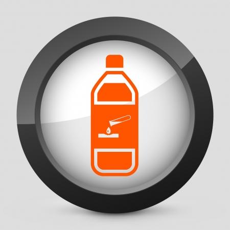 Vector illustration of single isolated elegant orange glossy icon. Stock Vector - 17790701