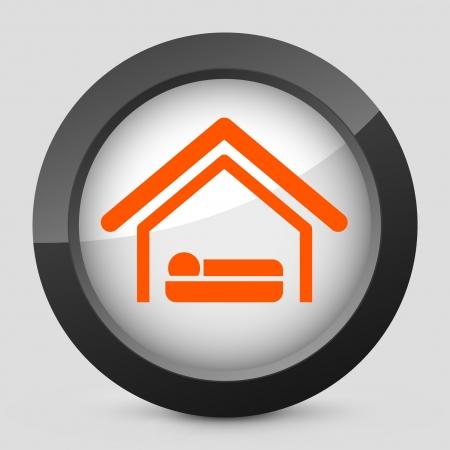 Vector illustration of single isolated elegant orange glossy icon. Stock Vector - 17790718