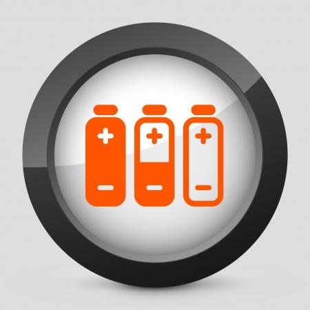 autonomia: Ilustraci�n vectorial de un solo aislado elegante icono naranja brillante.