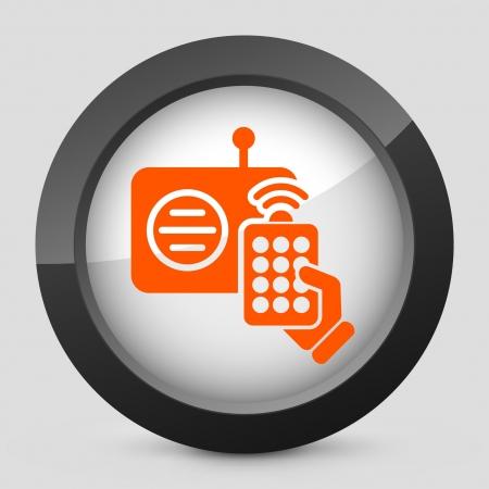 Vector illustration of single isolated elegant orange glossy icon. Stock Vector - 17790142