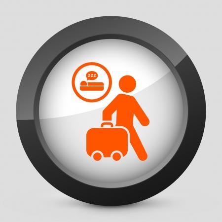 breackfast: Vector illustration of single isolated elegant orange glossy icon. Illustration