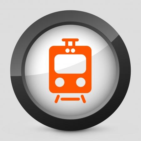 storehouse: Ilustraci�n vectorial de un solo aislado elegante icono naranja brillante.