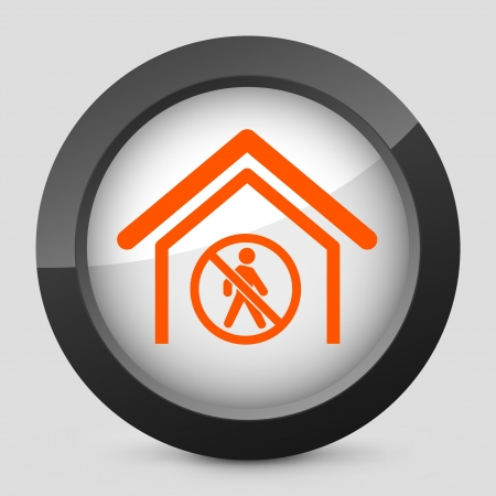 Vector illustration of single isolated elegant orange glossy icon. Stock Vector - 17790416