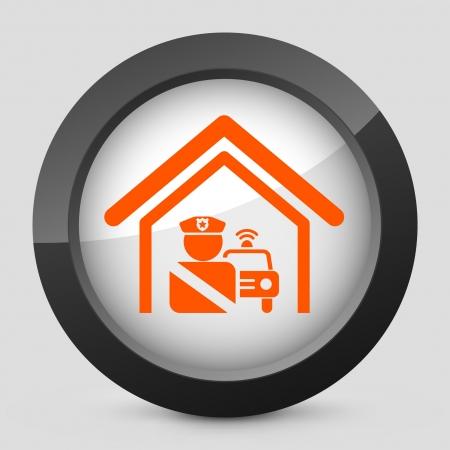 Vector illustration of single isolated elegant orange glossy icon. Stock Vector - 17790128