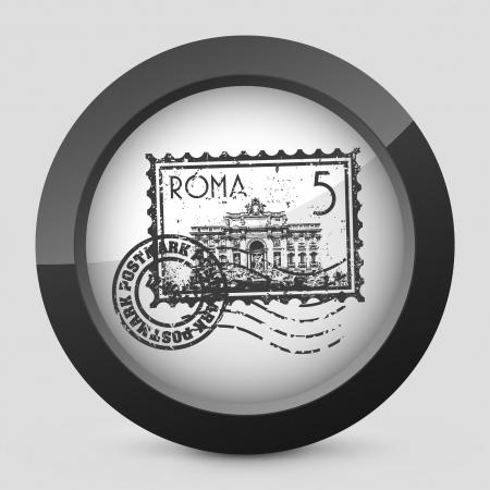 roman catholic: Vector illustration of single isolated elegant orange glossy icon. Illustration