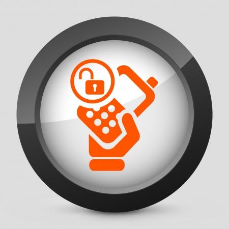 personal profile: Vector illustration of single isolated elegant orange glossy icon. Illustration