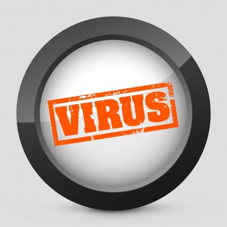 spyware: Ilustraci�n vectorial de un solo aislado icono elegante brillante naranja.