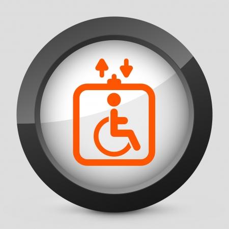 Vector illustration of single isolated elegant orange glossy icon. Stock Vector - 17790545