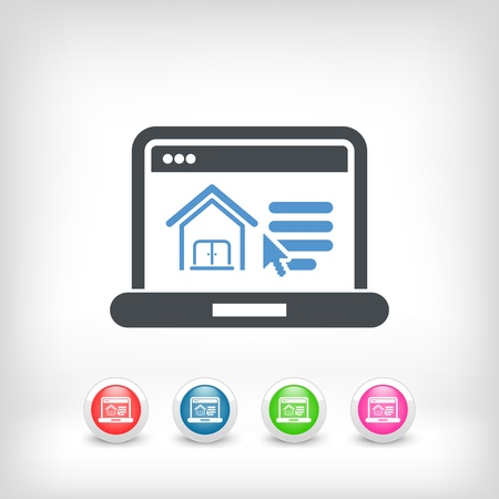 housewarming: Illustration of realestate website icon Illustration
